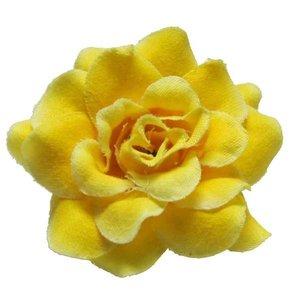 Roos geel stof ca. 4,5 cm (10 stuks)