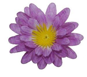 Gerbera paars stof klein ca. 6,5 cm (10 stuks)