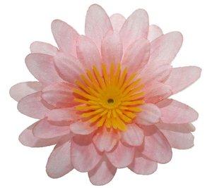 Gerbera licht zalm/roze stof klein ca. 6,5 cm (10 stuks)