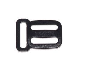 Schuifgesp zwart kunststof 20 mm met ring 20 mm (100 stuks)