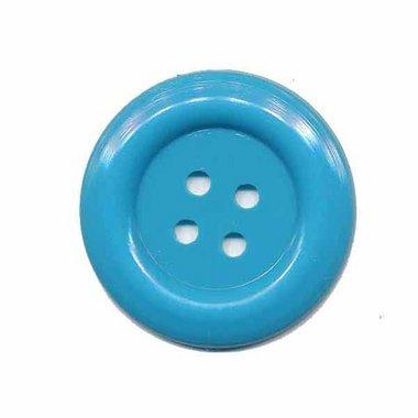 Knoop groot licht blauw 35 mm (ca. 25 stuks)