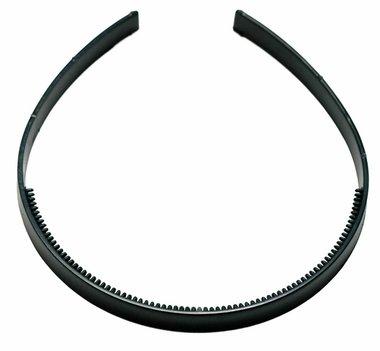 Diadeem om zelf te bekleden 10 mm zwart (6 stuks)