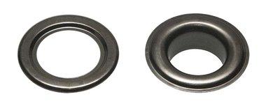 Nestels 15 mm (maat #30) oud zilverkleurig staal (ca. 50 sets)