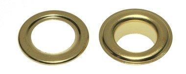 Nestels 19 mm (maat #32) goudkleurig staal (ca. 50 sets)