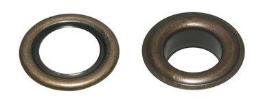 Nestels 19 mm (maat #32) bronskleurig staal (ca. 50 sets)