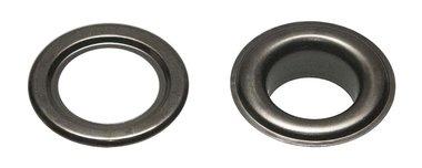 Nestels 19 mm (maat #32) oud zilverkleurig staal (ca. 50 sets)