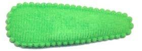 Haarknip met haarkniphoesje vilt gifgroen 5 cm (ca. 100 stuks)