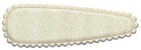Haarkniphoesje satijn ivoor 5 cm (ca. 100 stuks)