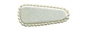 Haarkniphoesje satijn ivoor 3 cm (ca. 100 stuks)