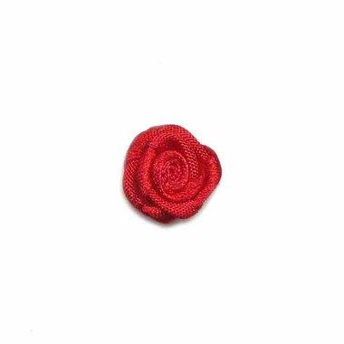 Roosje satijn rood 15 mm (ca. 25 stuks)