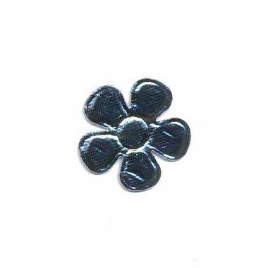 Applicatie glim bloem zilver klein 20 mm (ca. 25 stuks)