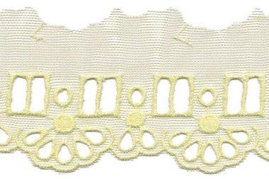 Tule broderie geel 50 mm (ca. 13,5 m)