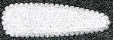 Haarkniphoesje fluweel wit 5 cm (ca. 20 stuks)