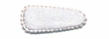 Haarkniphoesje fluweel wit 3 cm (ca. 100 stuks)