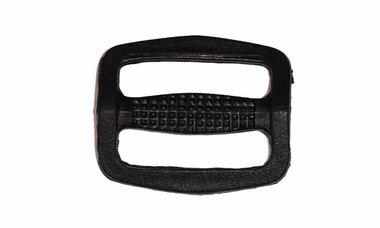 Schuifgesp zwart kunststof 25 mm (10 stuks)