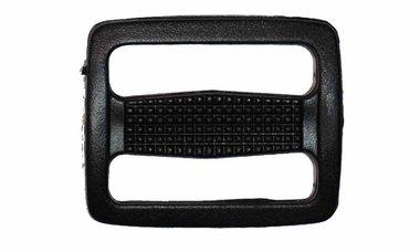 Schuifgesp zwart kunststof 30 mm (10 stuks)