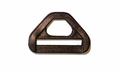D-ring driehoekig zwart kunststof 25 mm (10 stuks)