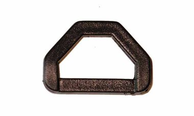 D-ring 6-hoekig zwart kunststof 25 mm (10 stuks)