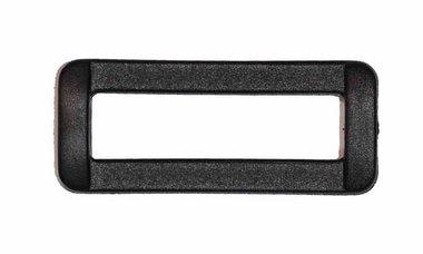 Rechthoekige ring zwart kunststof 38 mm (10 stuks)