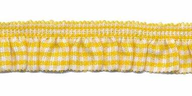 Geel-wit geruite roezel elastiek 19 mm (ca. 10 meter)