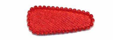 Haarkniphoesje fluweel rood 3 cm (ca. 100 stuks)