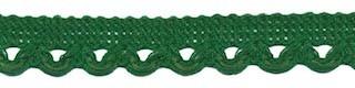 Sierband met lus-/schulprandje donker groen 12 mm (ca. 32 meter)