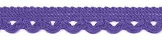 Sierband met lus-/schulprandje paars 12 mm (ca. 32 meter)
