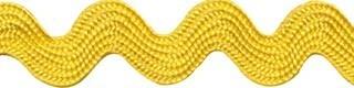 Geel zig-zag band 10 mm (ca. 16 meter)