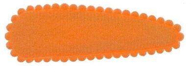 Haarknip met haarkniphoesje vilt oranje 5 cm (ca. 100 stuks)