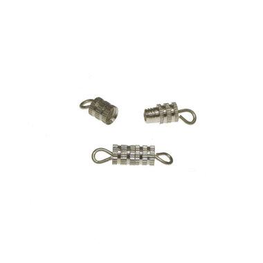 Draaisluiting zilverkleurig 8x4 mm (ca. 10 stuks)