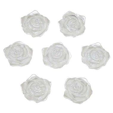 Flatback roos wit parelmoer middel 19 mm (100 stuks)