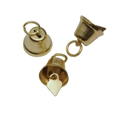 Klokvormige belletjes goudkleurig 13 mm (ca. 25 stuks)