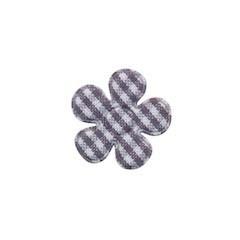 Applicatie geruite bloem grijs-wit klein 20 mm (ca. 100 stuks)