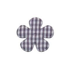 Applicatie geruite bloem grijs-wit klein 25 mm (ca. 100 stuks)