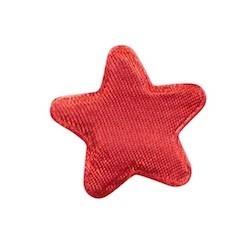 Applicatie ster rood satijn effen middel 30 mm (ca. 100 stuks)