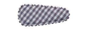 Haarkniphoesje grijs-wit geruit 3 cm (ca. 100 stuks)