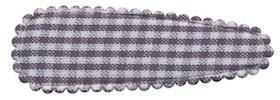 Haarkniphoesje geruit wit-grijs 5 cm (ca. 100 stuks)