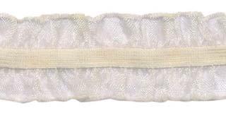 Creme roezel elastiek 2-zijdig 25 mm (ca. 10 meter)
