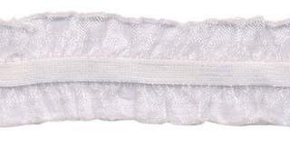 Wit roezel elastiek 2-zijdig 25 mm (ca. 10 meter)