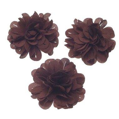 Bloem stof bruin ca. 6 cm (5 stuks)