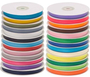 Set: 25 kleuren 10 mm satijnband (ca. 780 m)