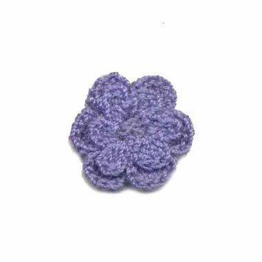 Gehaakt roosje lavendel 25 mm (10 stuks)