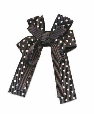 Strik grosgrain polkadot zwart dubbel (10 stuks)