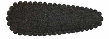 Haarknip met haarkniphoesje vilt zwart 5 cm (ca. 100 stuks)
