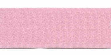 Klittenband 25 mm baby roze (ca. 18 m)