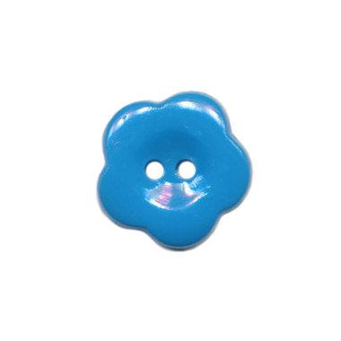 Bloemknoop blauw 15 mm (ca. 50 stuks)