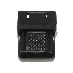 Kunststof/metaal tas sluiting zwart ca. 30x40 mm (5 stuks)