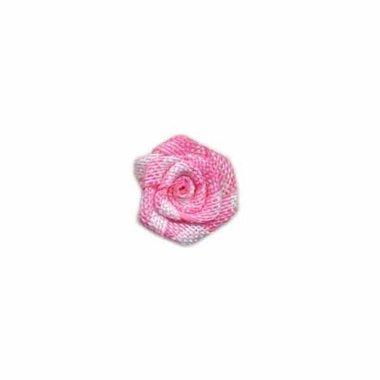 Roosje geruit roze-wit 15 mm (ca. 25 stuks)