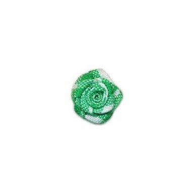 Roosje geruit groen-wit 15 mm (ca. 25 stuks)