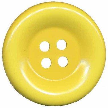 Grote knoop zacht geel 50 mm (10 stuks)